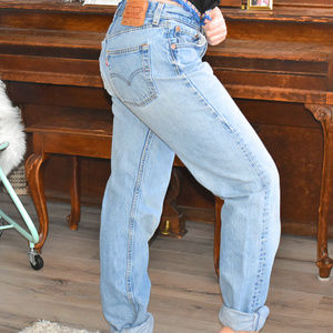 Vintage 501 High Waist Button Fly Mom Jeans